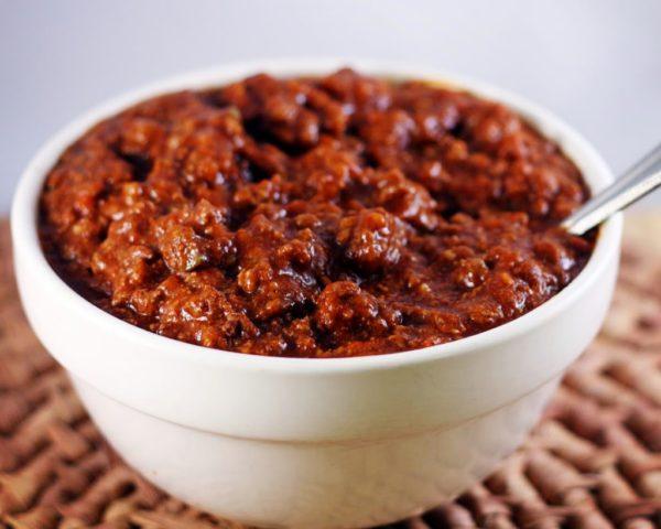 paelo chili recipe, chili without beans, ground beef chili