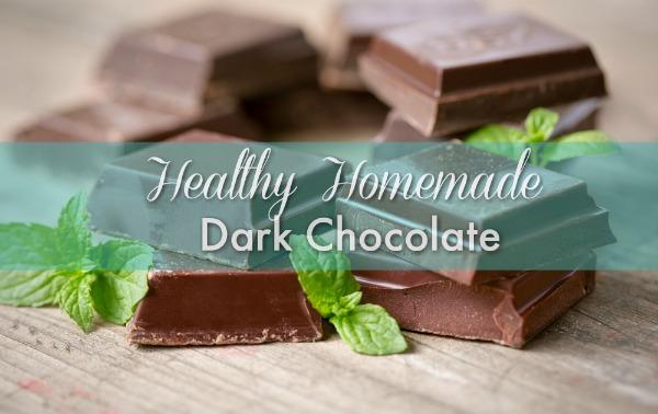 Healthy Homemade Dark Chocolate Recipe