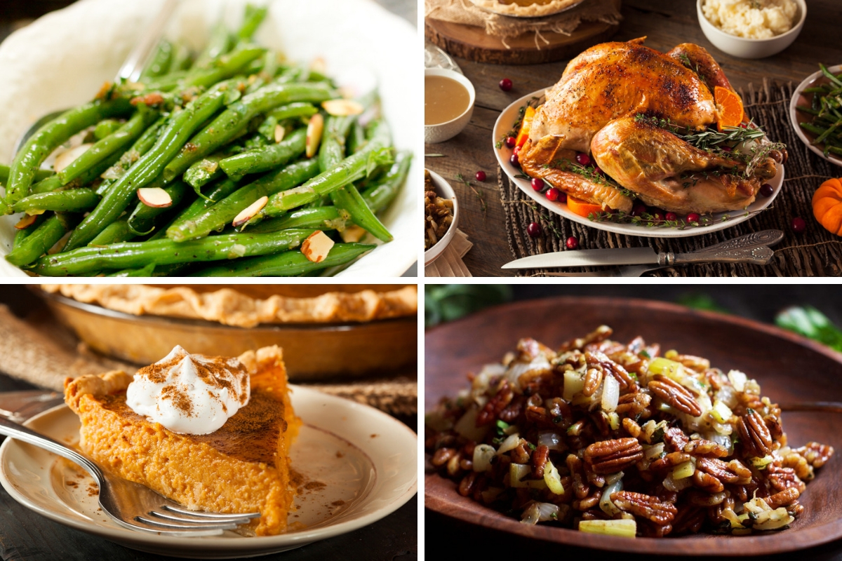 collage of Thanksgiving Paleo Recipes