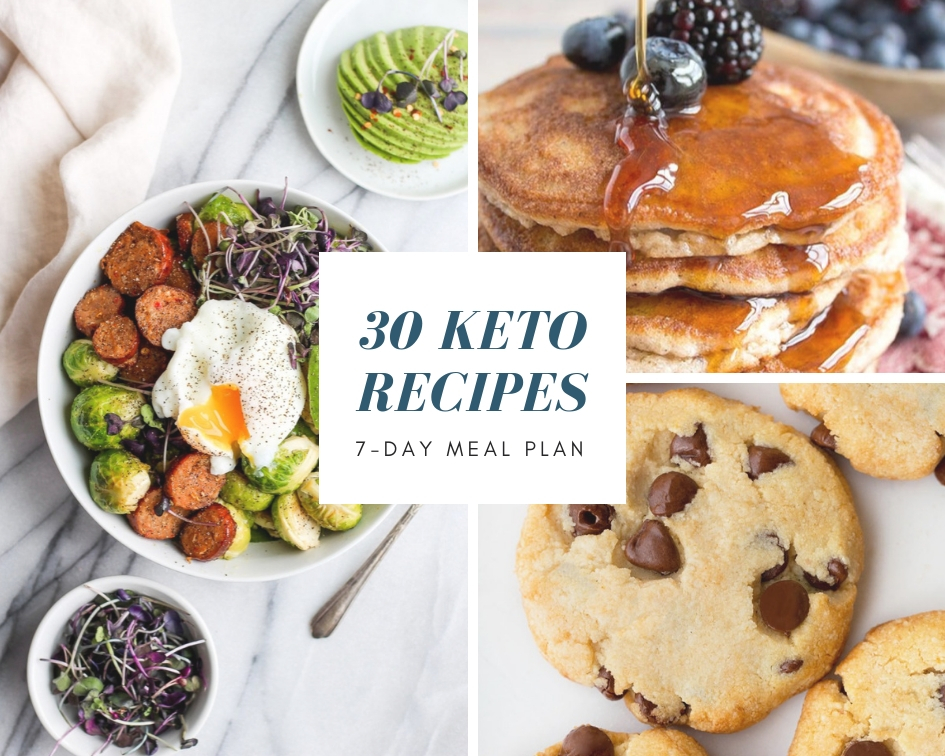 30 keto recipes 7-day meal plan